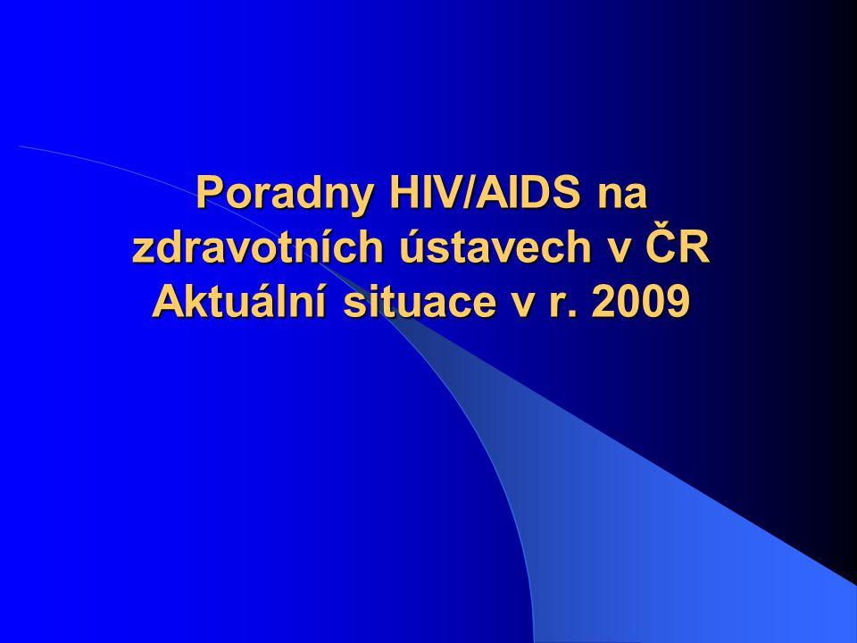 Poradny HIV/AIDS na zdravotních ústavech v ČR Aktuální situace v r. 2009