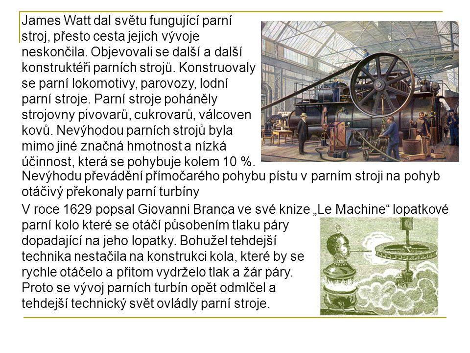 V 19.století se parní stroj stal nejvýznamnějším zdrojem energie jak v průmyslu, tak v dopravě.