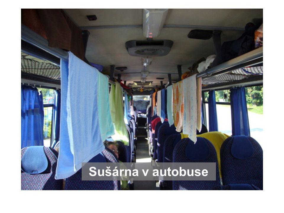 Sušárna v autobuse