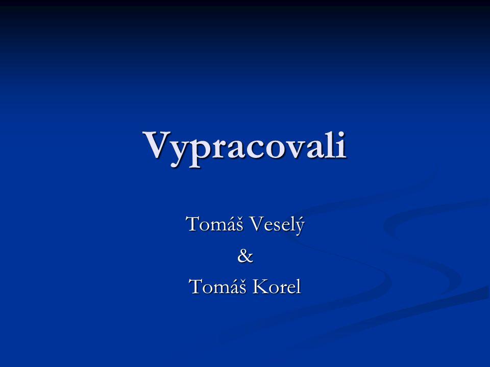 Vypracovali Tomáš Veselý & Tomáš Korel