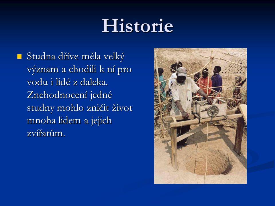 Historie  Studna dříve měla velký význam a chodili k ní pro vodu i lidé z daleka. Znehodnocení jedné studny mohlo zničit život mnoha lidem a jejich z