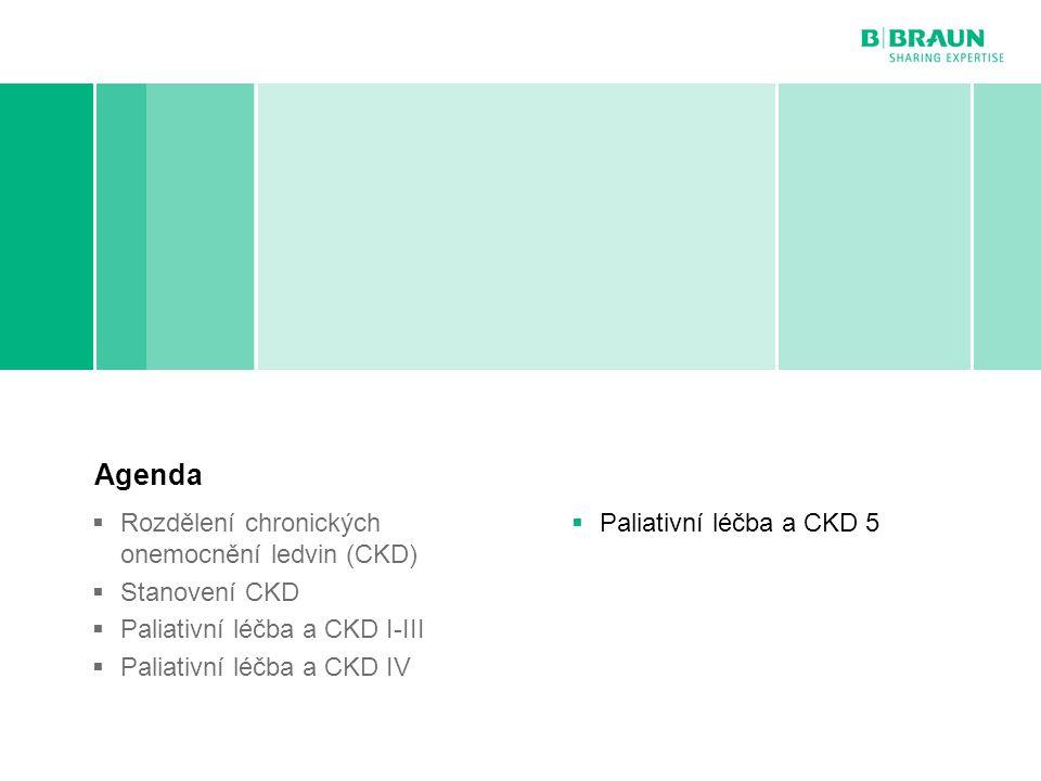 B. Braun Avitum | MUDr. Roman Kantor | Paliativní péče v nefrologii | Page Paliativní léčba a CKD 5 Agenda  Rozdělení chronických onemocnění ledvin (