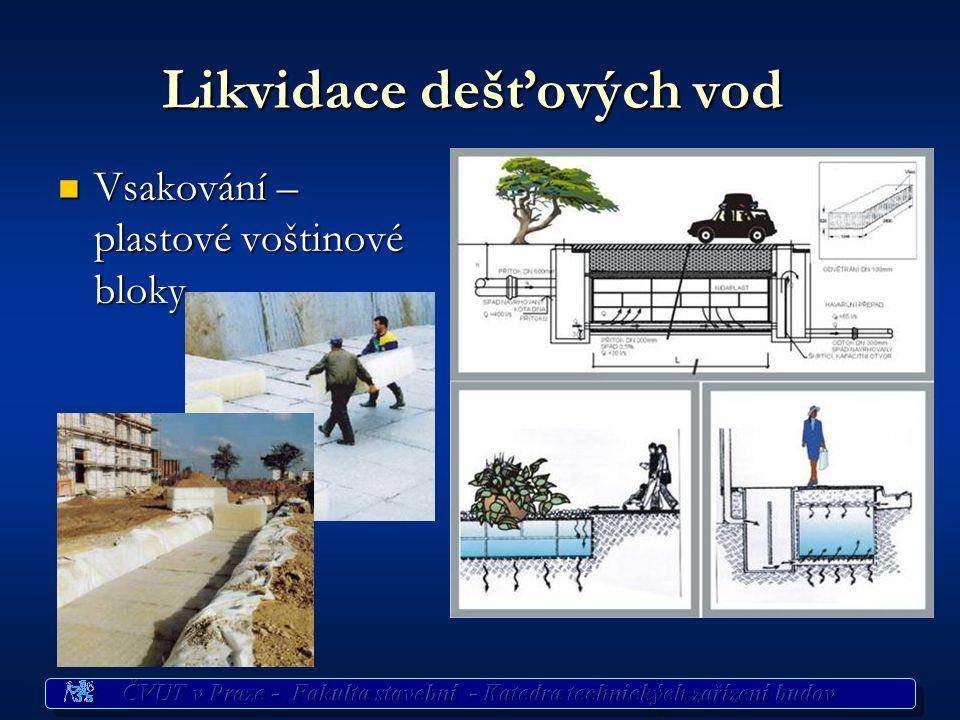 Využití dešťových vod  Potřeba vody v bytech 140 až 280 l/os/den