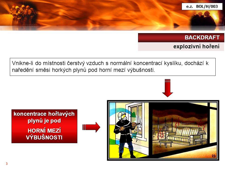 4 Po naředění hořlavých plynů a par dochází k jejích výbuchu.