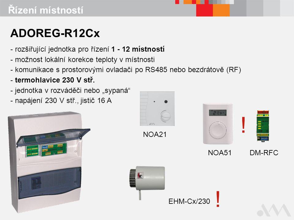 Řízení místností EHM-Cx/230 NOA21 NOA51 .DM-RFC .