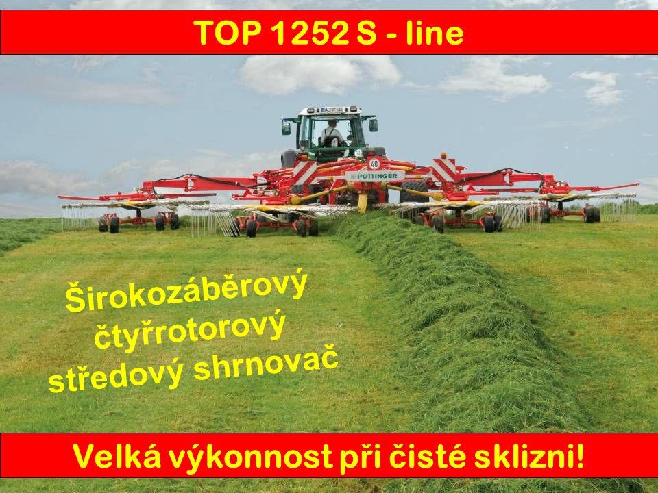 TOP S - line1252 Odkládání řádkustředové Pracovní záběr 8,00 - 12,50 m Transportní délka10,25 m Transportní šírka2,95 m Transportní výška s demon.