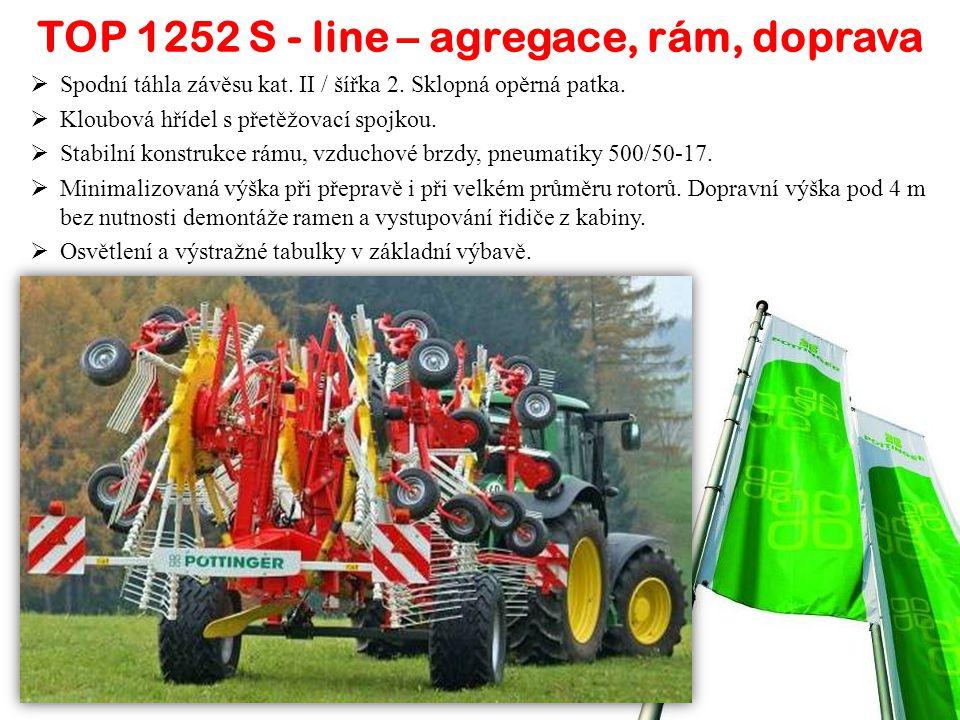 TOP 1252 S - line  Pracovní záběr od 8 do 12,5 m.
