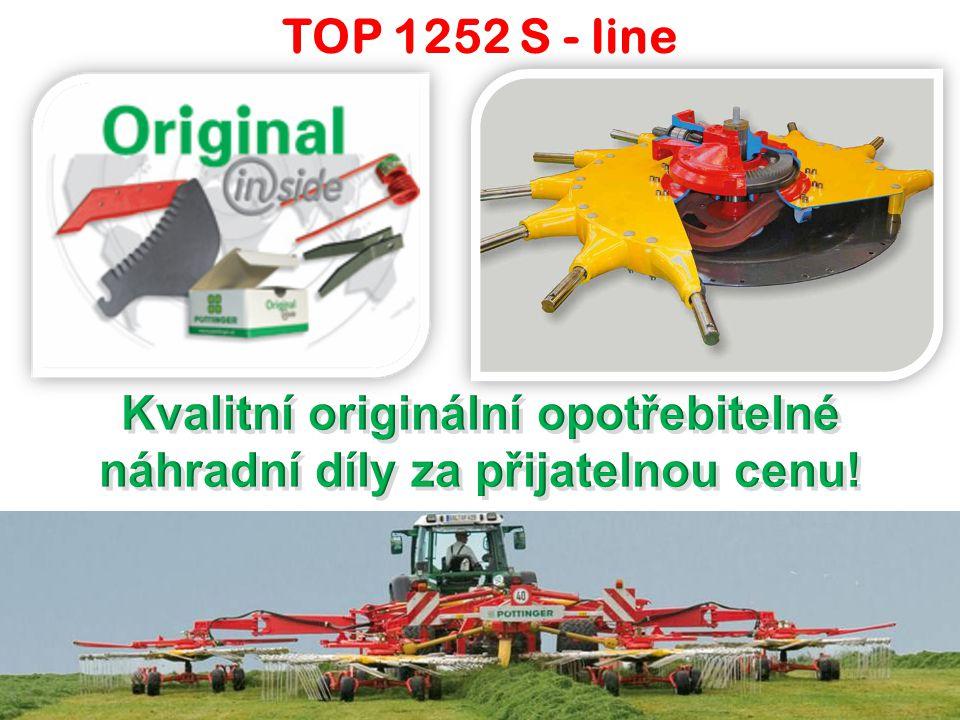 """TOP 1252 S – line – u ž ivatelé AG Skořenice, okres Ústí nad Orlicí """"Co se týká shrnování dvanáctimetrovým shrnovačem TOP 1252, jsme nadmíru spokojeni."""