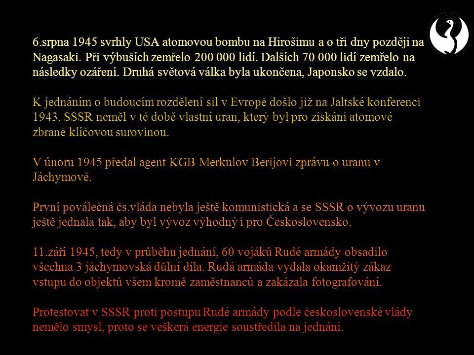 Uranové doly v Československu po roce 1945
