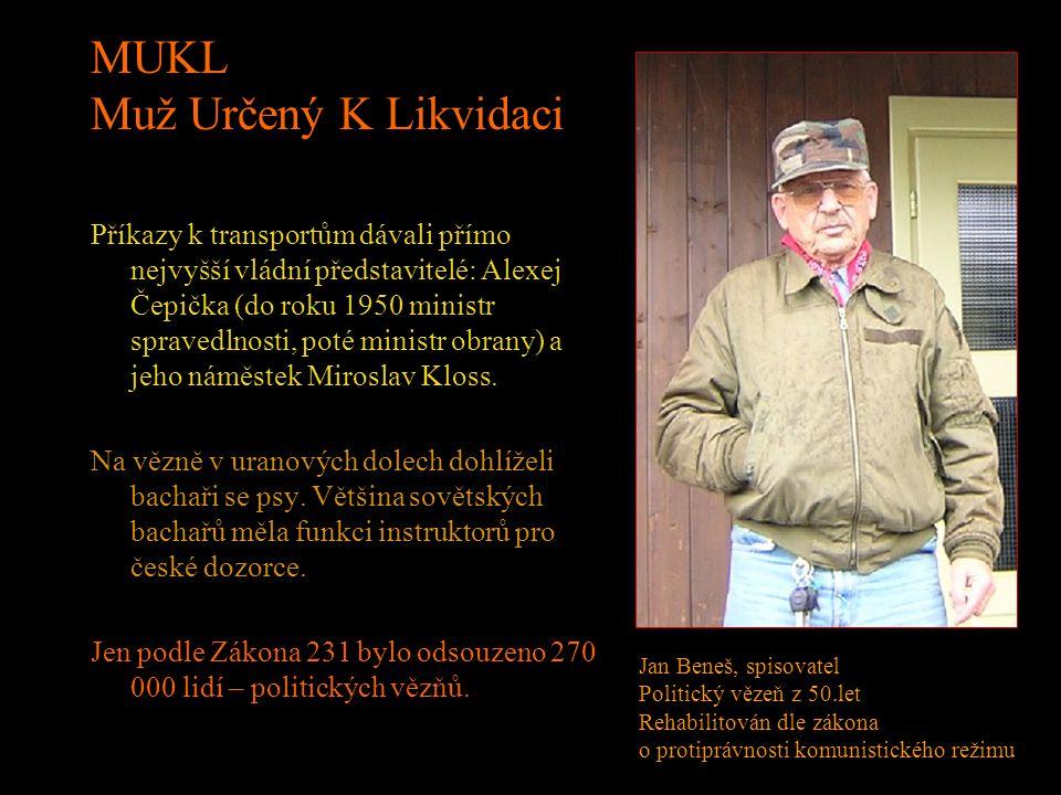 """AKCE OSTROV Od roku 1948 se začali v uranovém průmyslu masivně využívat vězni v rámci akce """"Ostrov"""". Plán na rok 1949 byl dostat do uranových táborů 5"""