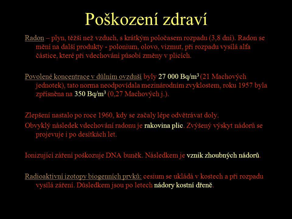 POČTY VĚZNĚNÝCH •1950-60 se odhaduje na 30 000 úrazů na uranu, z toho 439 smrtelných. •Antonín Kratochvíl dospěl k počtu 217 000 politických vězňů do