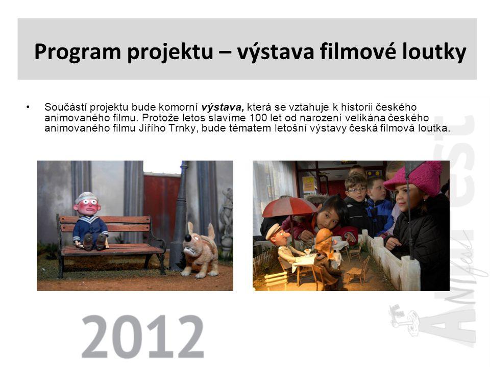 •Součástí projektu bude komorní výstava, která se vztahuje k historii českého animovaného filmu. Protože letos slavíme 100 let od narození velikána če