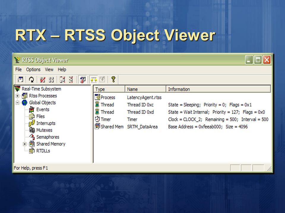 RTX – RTSS Object Viewer