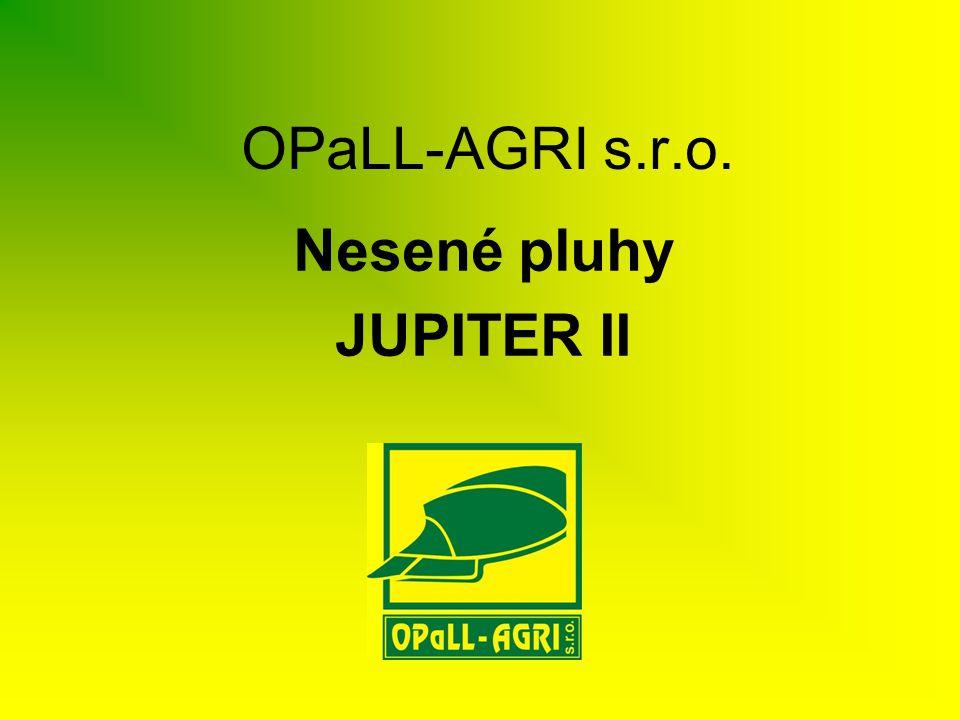 JUPITER II 140/100 •Profil rámu 140x140mm, rozestup těles 1m •4-5 radličný pluh •jištění těles pružinou či střižným šroubem •stavitelný záběr oreb.