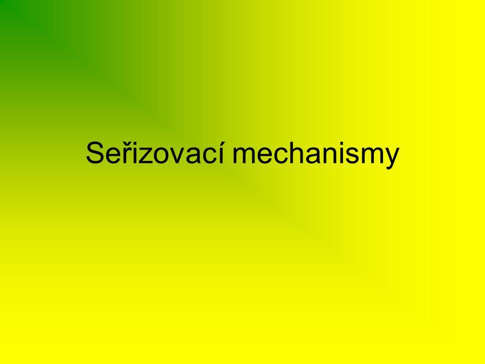Seřizovací mechanismy