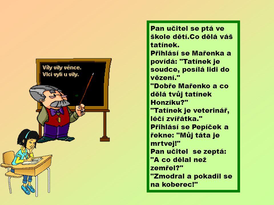 Při vyučování se ptá učitelka žáků: