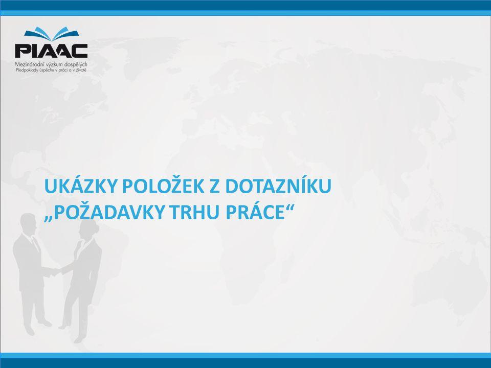 "UKÁZKY POLOŽEK Z DOTAZNÍKU ""POŽADAVKY TRHU PRÁCE"