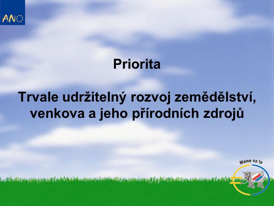 Priorita Trvale udržitelný rozvoj zemědělství, venkova a jeho přírodních zdrojů
