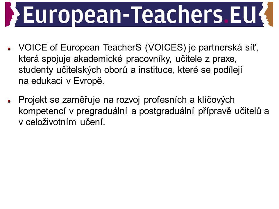 VOICE of European TeacherS (VOICES) je partnerská síť, která spojuje akademické pracovníky, učitele z praxe, studenty učitelských oborů a instituce, k