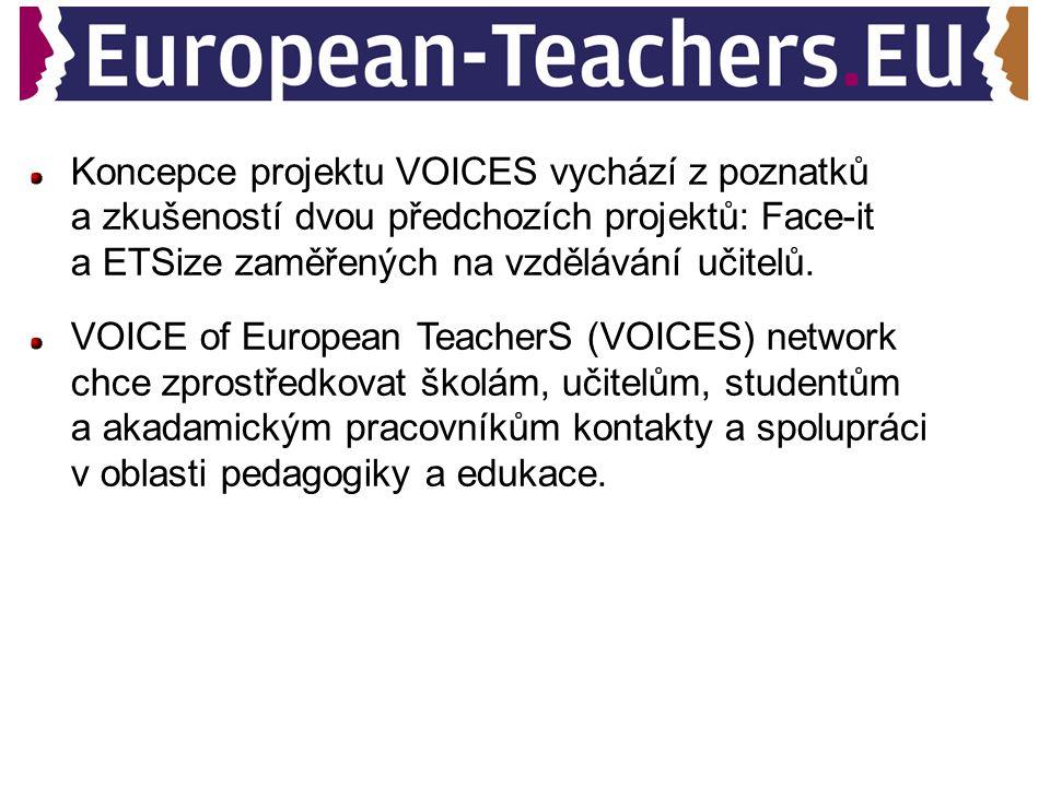 Koncepce projektu VOICES vychází z poznatků a zkušeností dvou předchozích projektů: Face-it a ETSize zaměřených na vzdělávání učitelů.