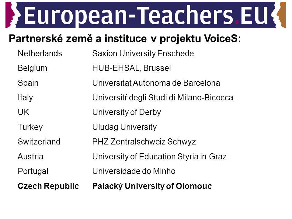 Tematické oblasti: Evropská rozmanitost Evropská identita (evropské povědomí a kulturní dědictví Evropské občanství Evropská profesionalita (management znalostí, koncepce edukace v Evropě) Nový učitel vzdělávání (vzdělávání učitelů v 21.
