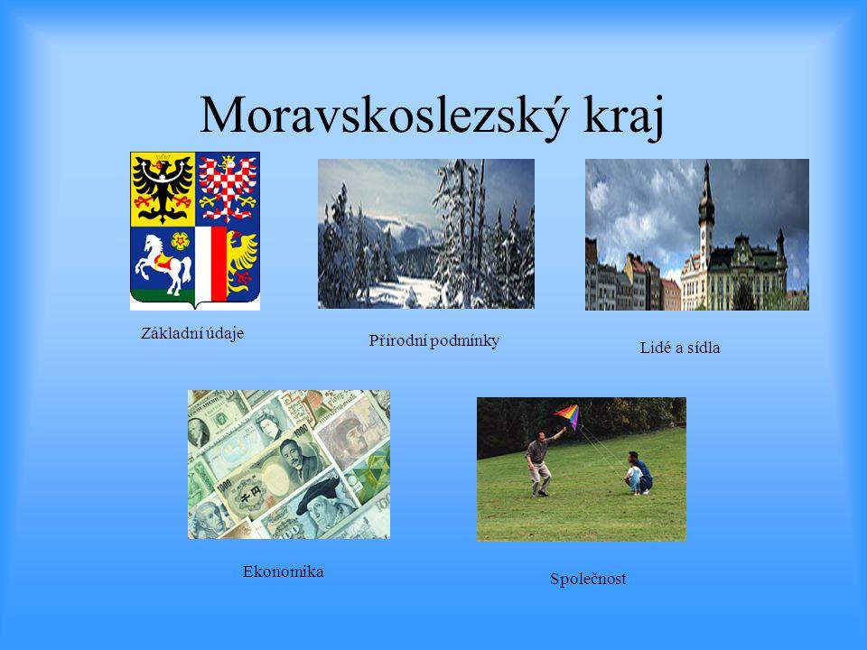Moravskoslezský kraj Základní údaje Lidé a sídla Přírodní podmínky Společnost Ekonomika