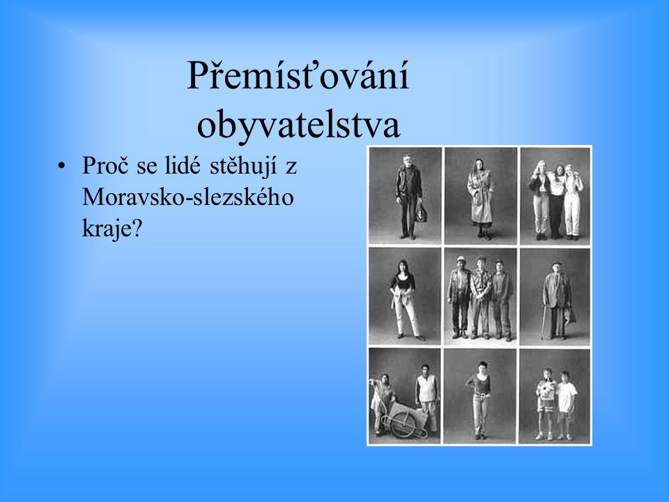 Přemísťování obyvatelstva •Proč se lidé stěhují z Moravsko-slezského kraje?