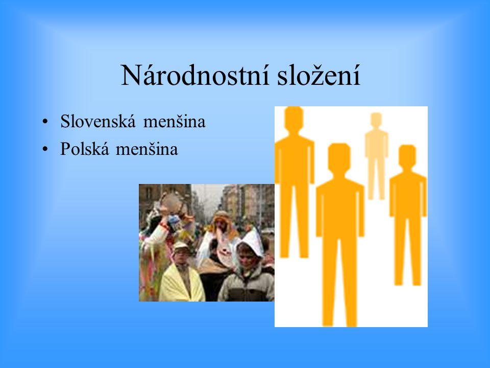 Národnostní složení •Slovenská menšina •Polská menšina