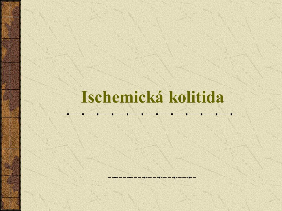 Ischemická kolitida