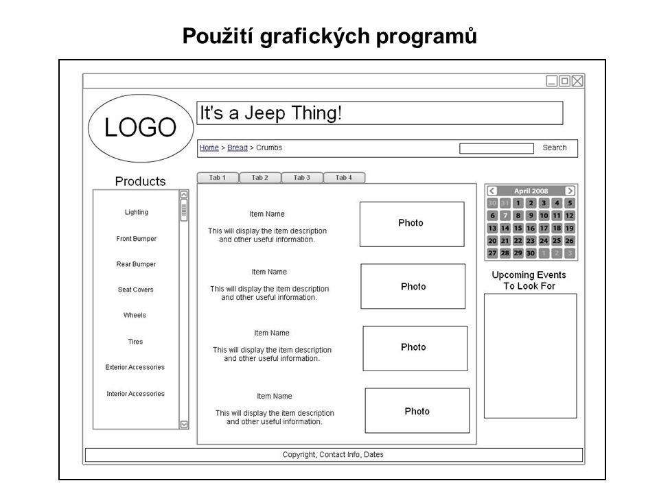 Použití grafických programů