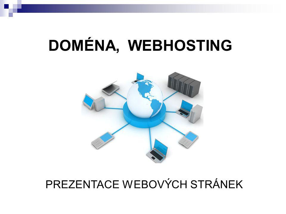 DOMÉNA, WEBHOSTING PREZENTACE WEBOVÝCH STRÁNEK