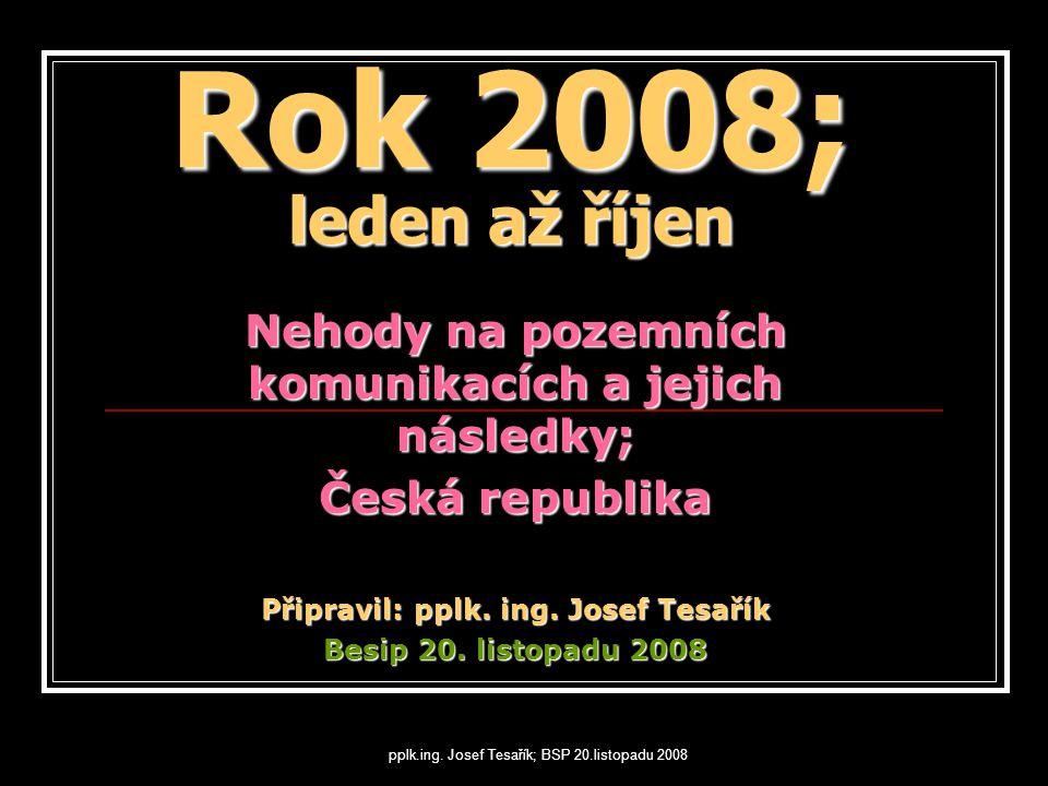 pplk.ing. Josef Tesařík; BSP 20.listopadu 2008 Děkuji za pozornost Pplk. Ing. Josef Tesařík