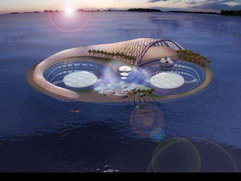 Hydropolis, první hotel pod vodou Konstruován v Německu a smontován v Dubaji. Plánované otevření 2009 (s významným zpožděním).