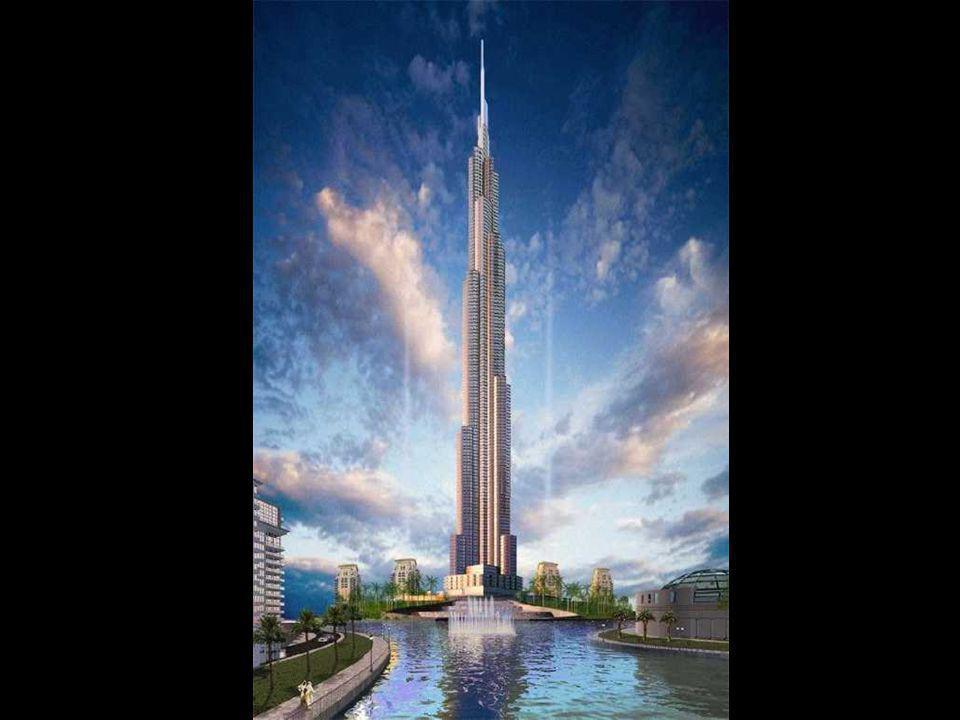 Burj Dubai Stavba začala v roce 2005 a měla být dokončena letos. S plánovanou výškou více než 800 metrů to bude nejvyšší budova světa. Bude asi o 40%