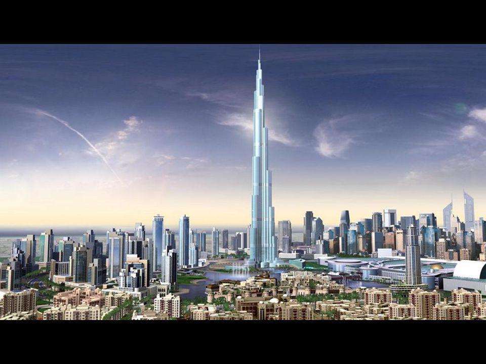 """Tak se bude prezentovat centrum Dubaje v příštích měsících. Zatím je postaveno 140 pater """"Burj Dubai""""."""