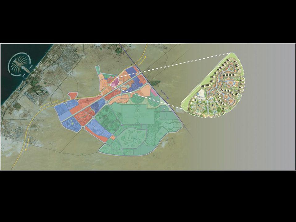 Dubailand stojí 20 miliard amerických dolarů. Plánuje se 45 velkých a 200 menších drah.