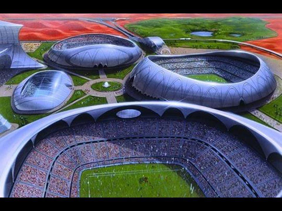 Dubai Sports City Enormní seskupení různých sportovních stadionů v Dubailandu.
