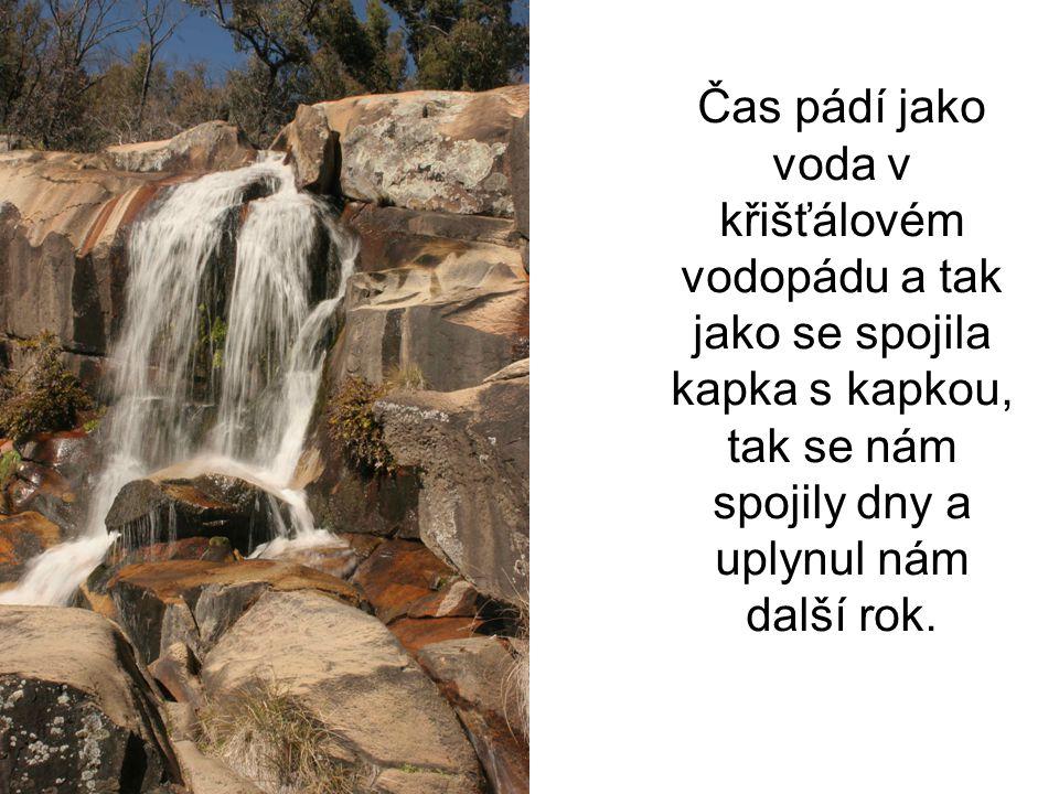 Čas pádí jako voda v křišťálovém vodopádu a tak jako se spojila kapka s kapkou, tak se nám spojily dny a uplynul nám další rok.
