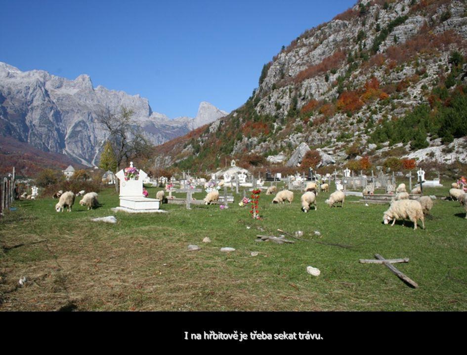 I na hřbitově je třeba sekat trávu.