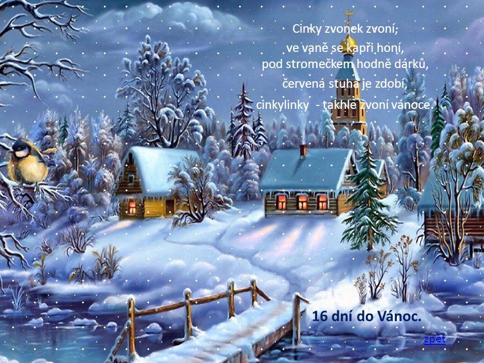 Dárky leží pod stromečkem a já si zpívám svou.Venku betlém hezky svítí a já procházím tmou.