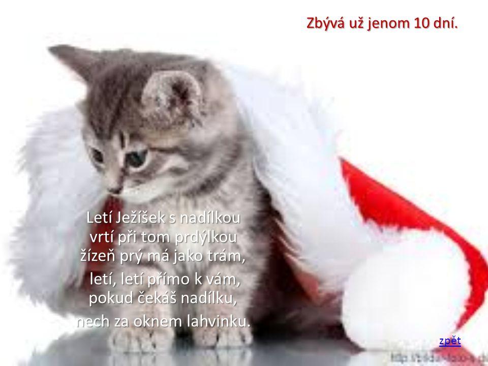 Až svíce na stromečku zazáří a zvonky začnou hrát já ač neviděn, hodně lásky a štěstí k Vánocům budu přát.