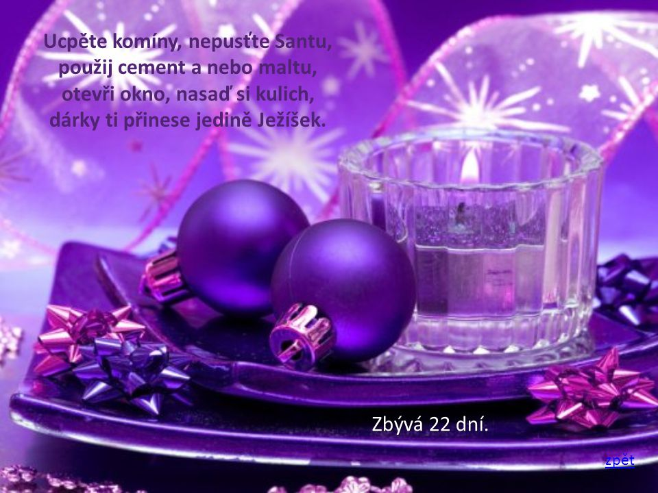 Třpytivý pozdrav plný vloček, mnoho dárků pod stromeček, radost a klid na Vánoce, a hodně štěstí v novém roce.