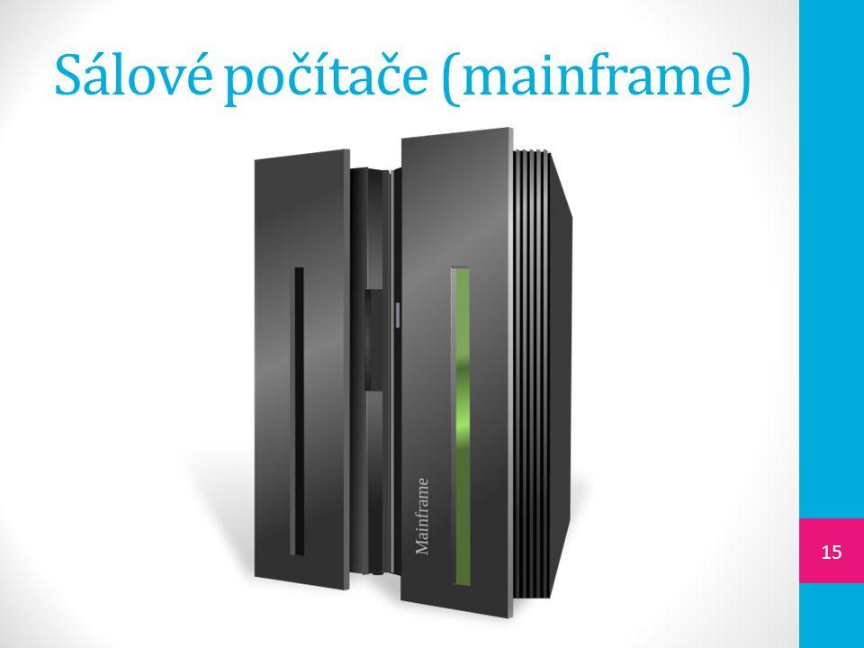 Sálové počítače (mainframe) 15
