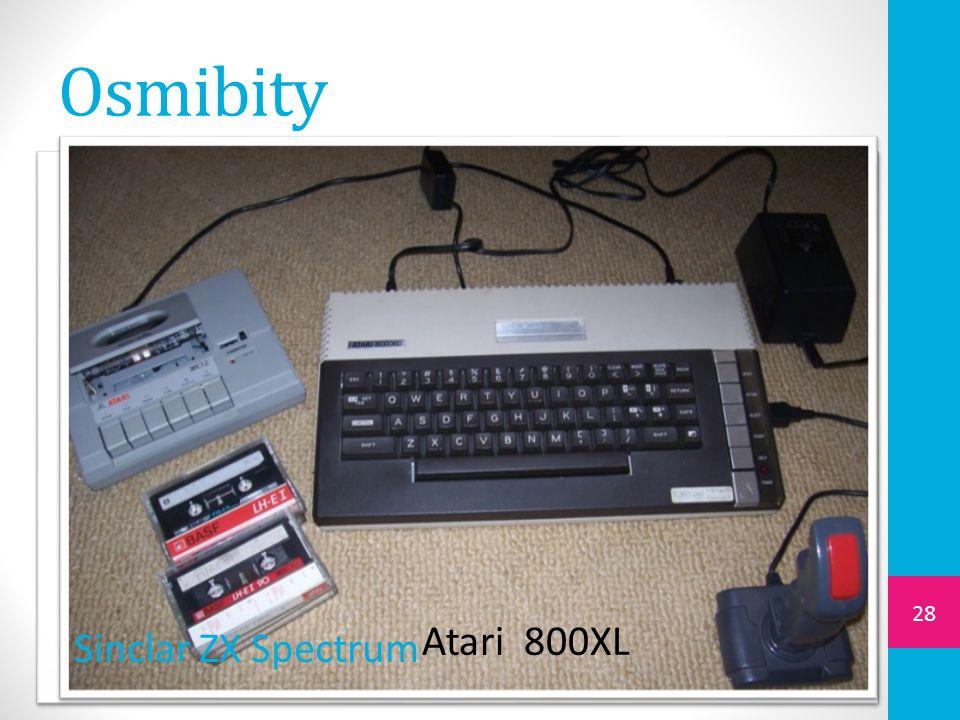 Osmibity 28 Sinclar ZX Spectrum Atari 800XL