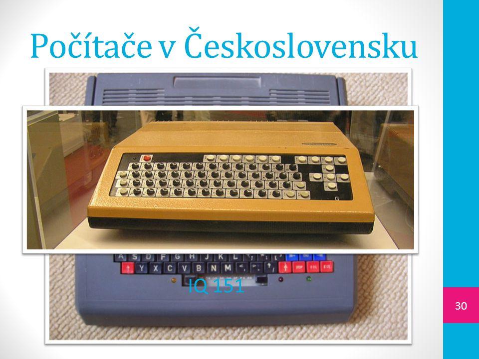 Počítače v Československu 30 IQ 151
