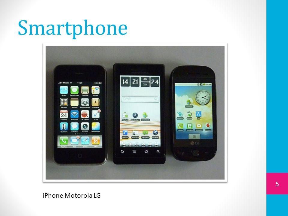Smartphone 5 iPhone Motorola LG