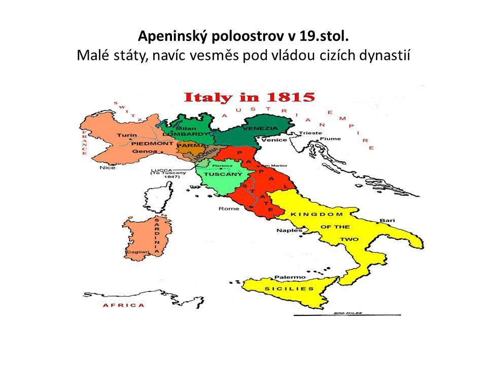 Italské království zbývá připojit Benátsko (vláda Habsburků) a okolí Říma (zbytek papežského státu pod ochranou Francie
