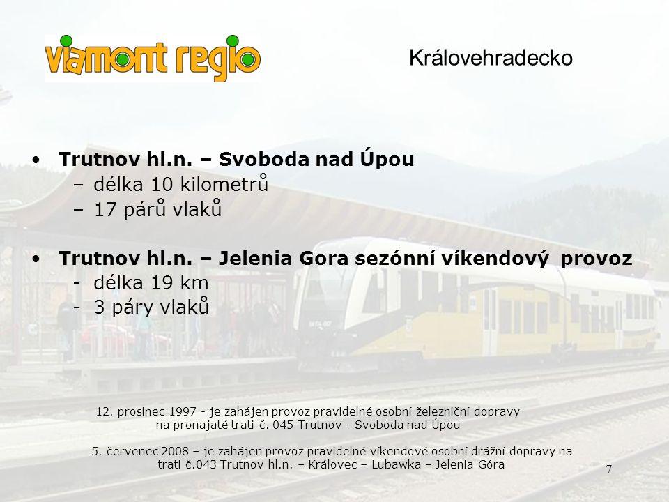 145 Sokolov – Kraslice st.hr. … 27 km/ 4 vehicles 149 K.Vary d.n. – M.Lázně … 53 km/ 2 vehicles