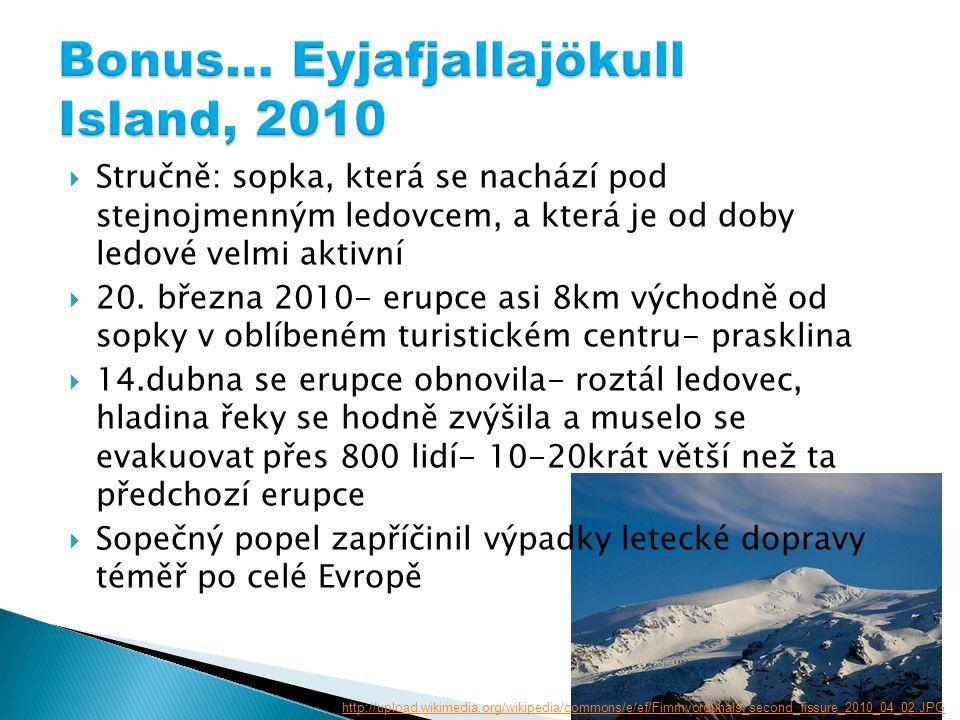  Stručně: sopka, která se nachází pod stejnojmenným ledovcem, a která je od doby ledové velmi aktivní  20.