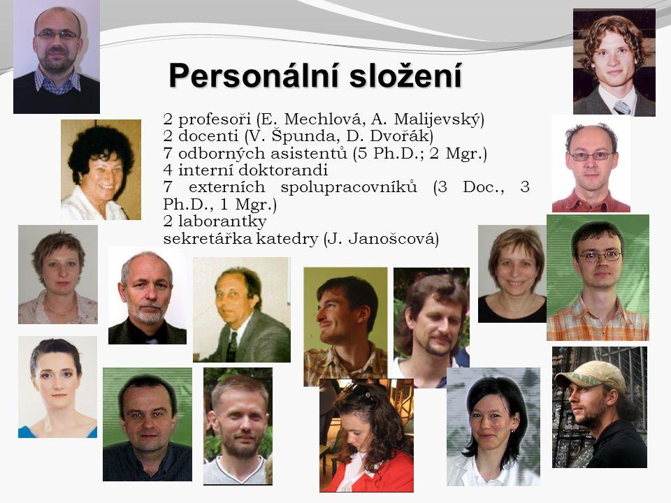 2 profesoři (E. Mechlová, A. Malijevský) 2 docenti (V. Špunda, D. Dvořák) 7 odborných asistentů (5 Ph.D.; 2 Mgr.) 4 interní doktorandi 7 externích spo